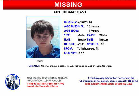 The Circumstances Of Alec Hash Gone U0027missingu0027 Has Created Questions About  The Integrity Of The Missing Endangered Persons Information Clearinghouse  (MEPIC), ...